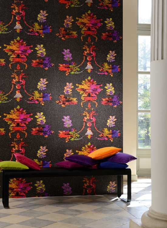 floral large size wallpaper for living room