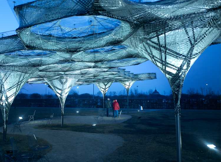 Elytra Filament Pavilion at the Vitra Design Museum Photograph: Julien Lanoo