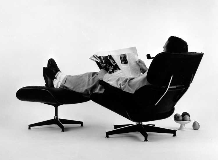 Charles Eames in the Lounge Chair & Ottoman