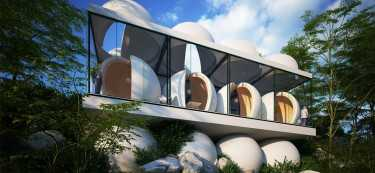 An Unbelievably Stunning House Made of Spheres