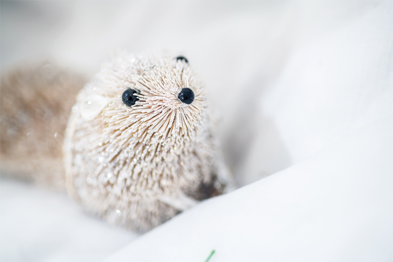 cute white animal ornament