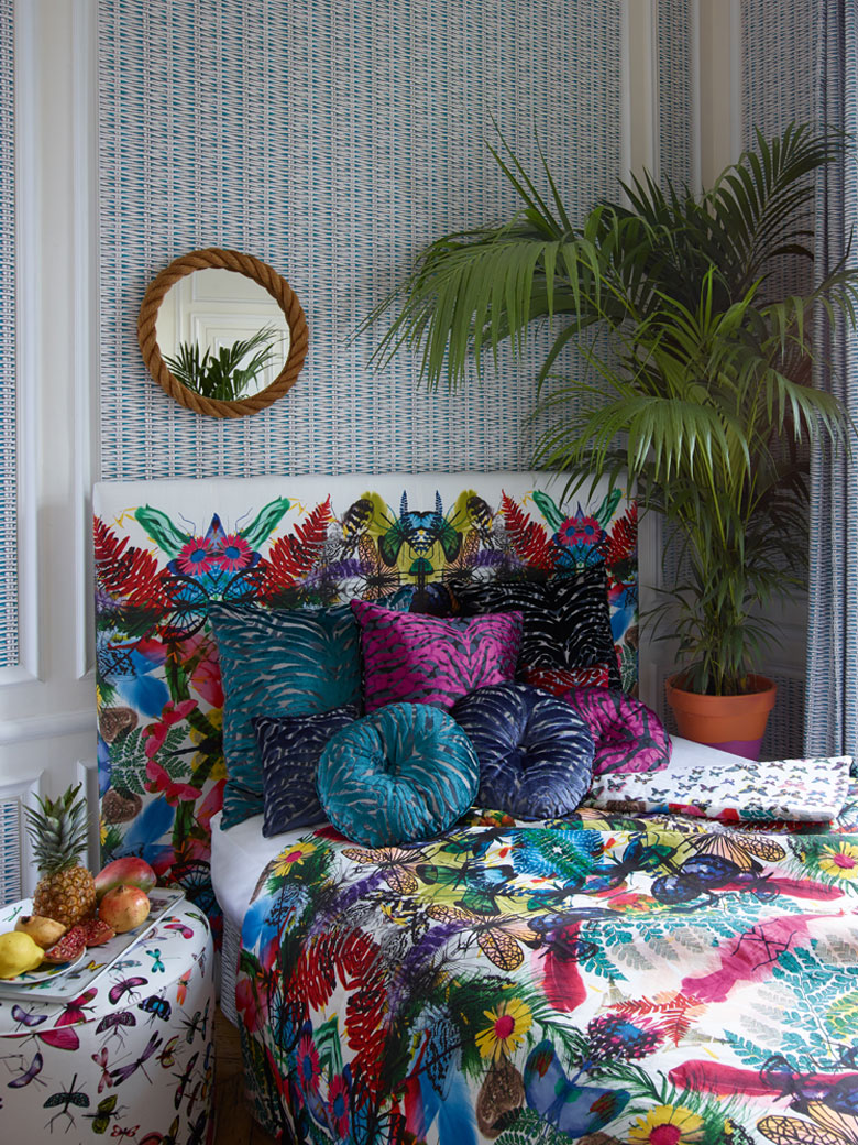 Colourful Bedroom by Christian Lacroix