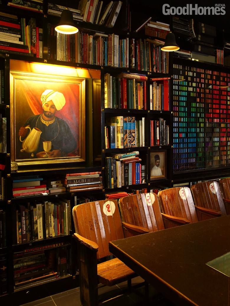 A colour coordinated bookshelf