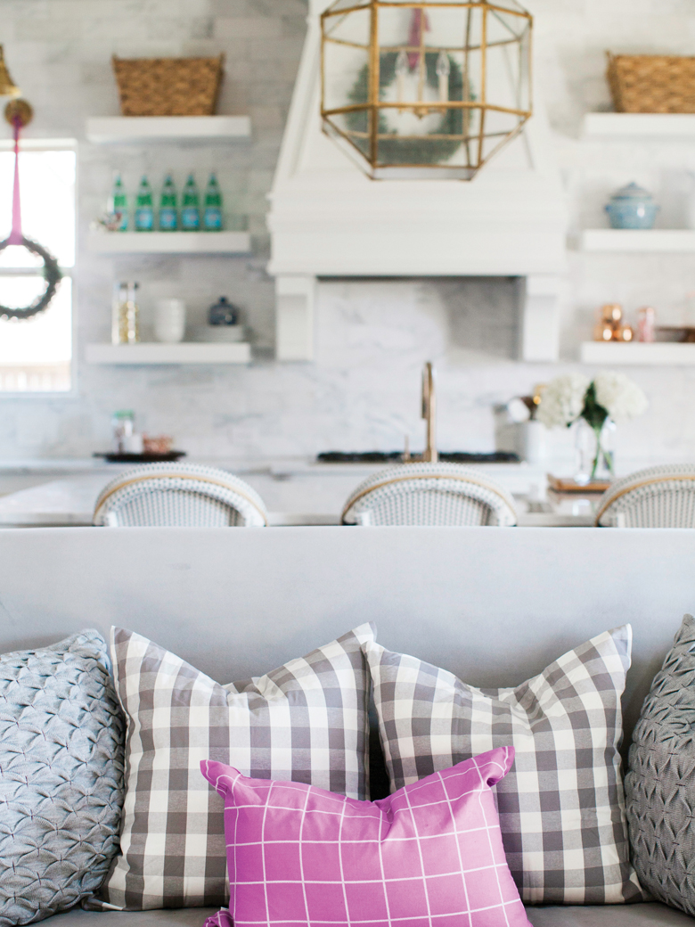 Bright plaid cushions