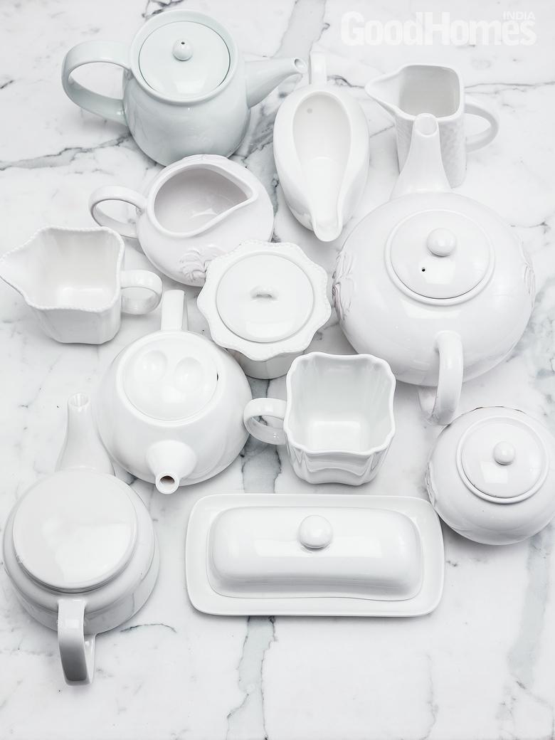 All White Crockery
