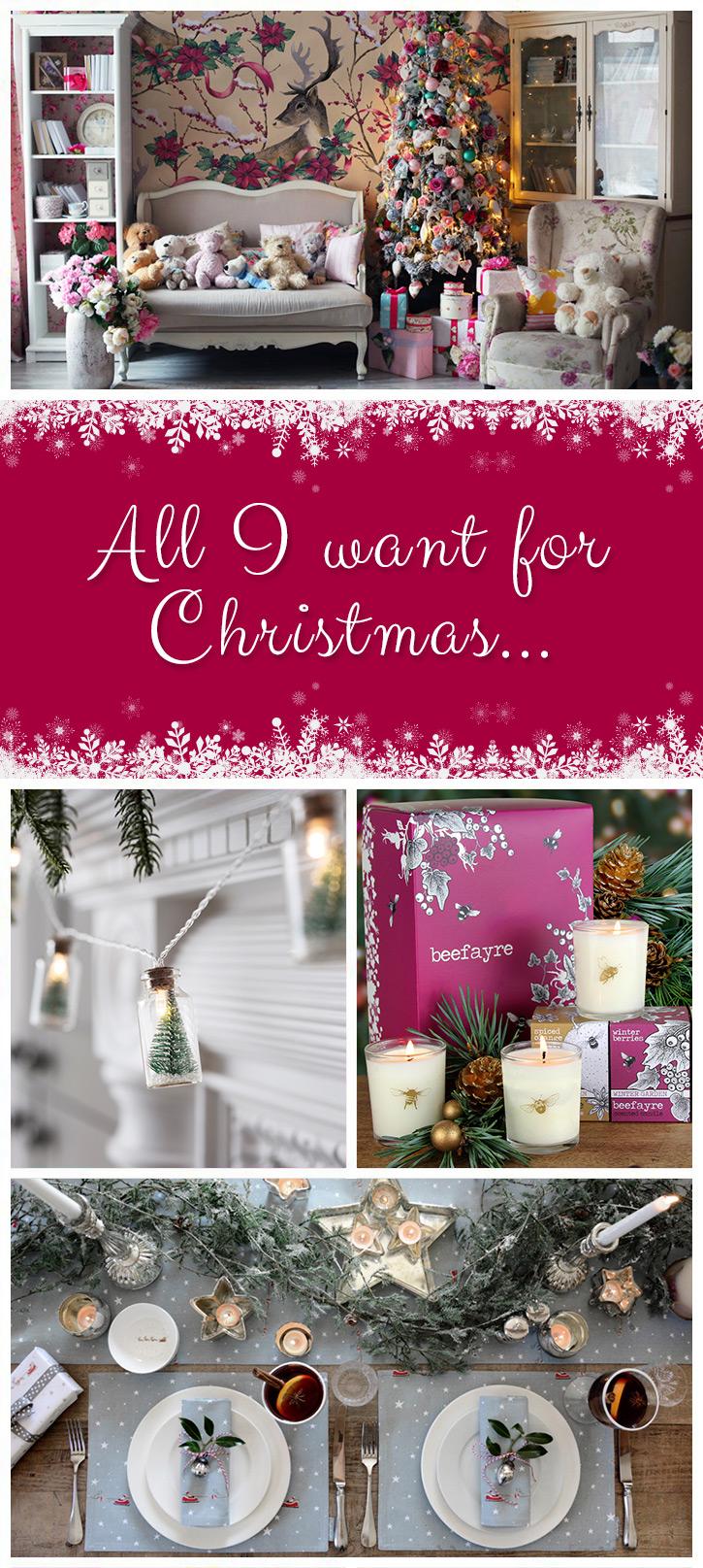 infographic on Christmas decor ideas