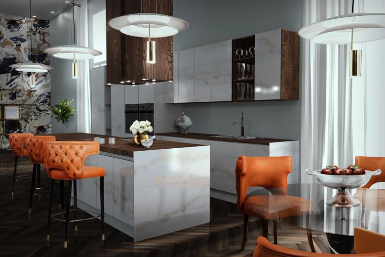 Black and sleek kitchen