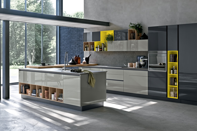 Sleek grey kitchen