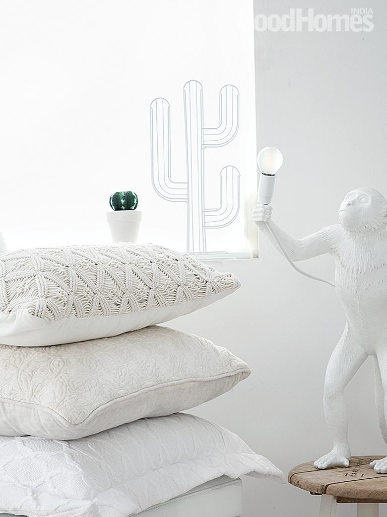 All White Cushions