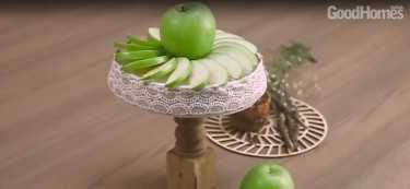 DIY: A Rustic Cake Stand