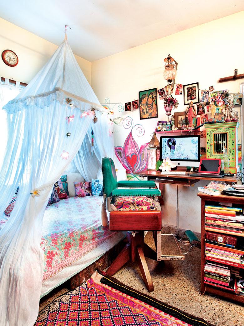 Artist Shilo Suleman's room