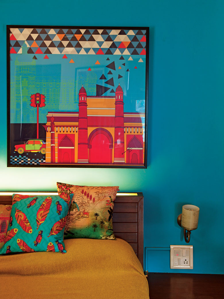 Bedroom inspiration with colour
