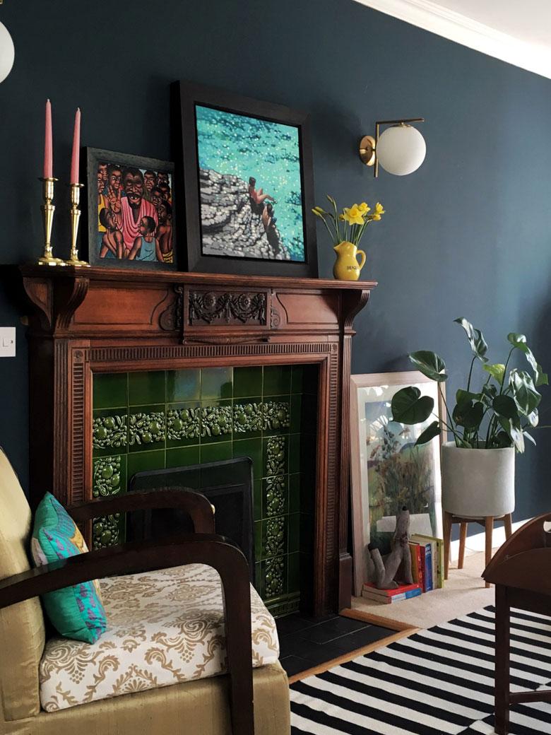 Interesting living room of Anita Mackenzie
