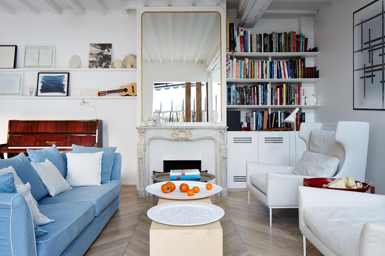living room of architect phillipe maidenberg