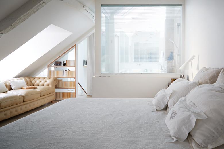 Sun kissed bedroom in white