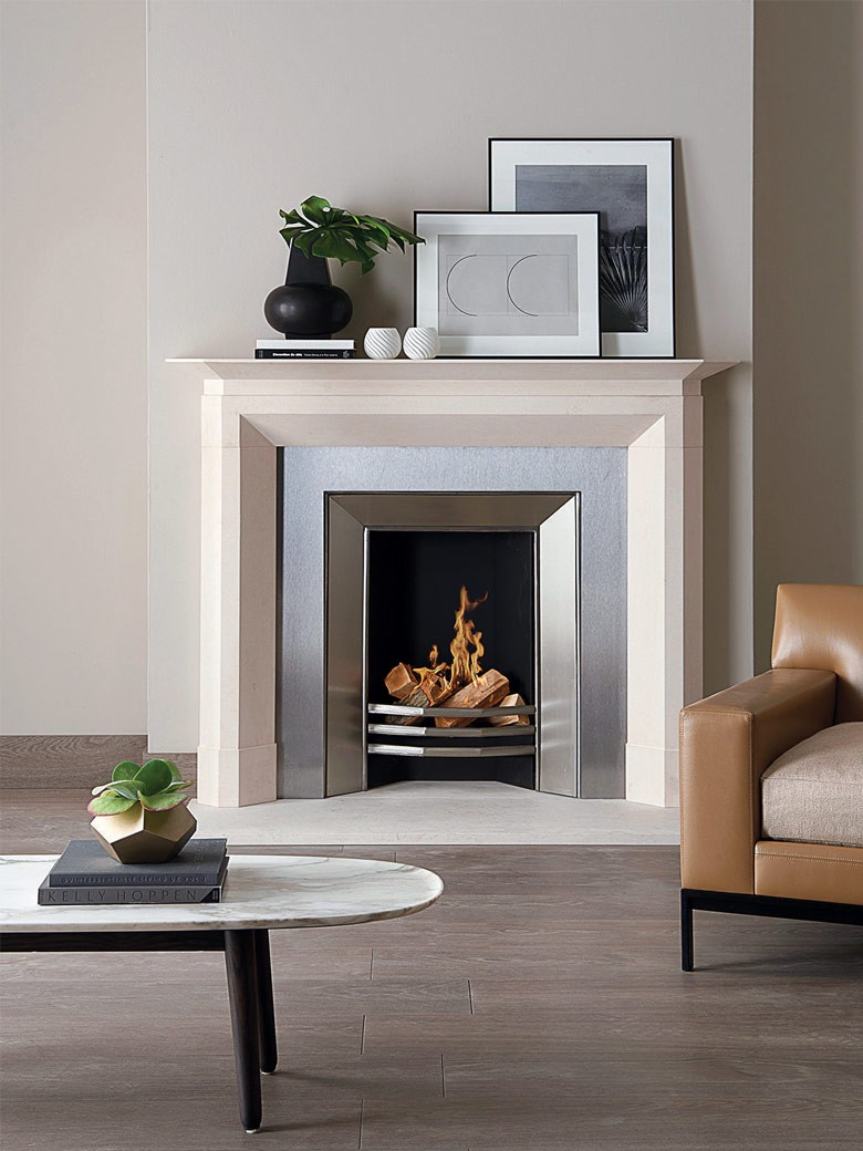 Dimplex Optimyst 600 Stainless Electric Fire With Stainless Steel Trim By Master Fireplaces