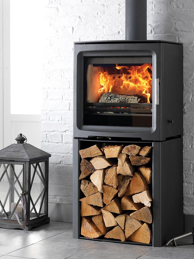 Purevision-5kW-Wide-Freestanding-Stove-on-Log-Store