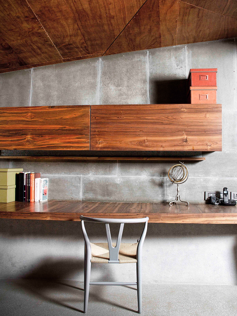 Wooden shelves in Tejal Mathur designed home