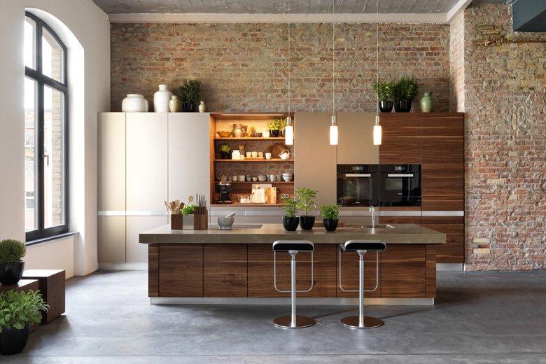 Brick Wall Kitchen Design Ideas