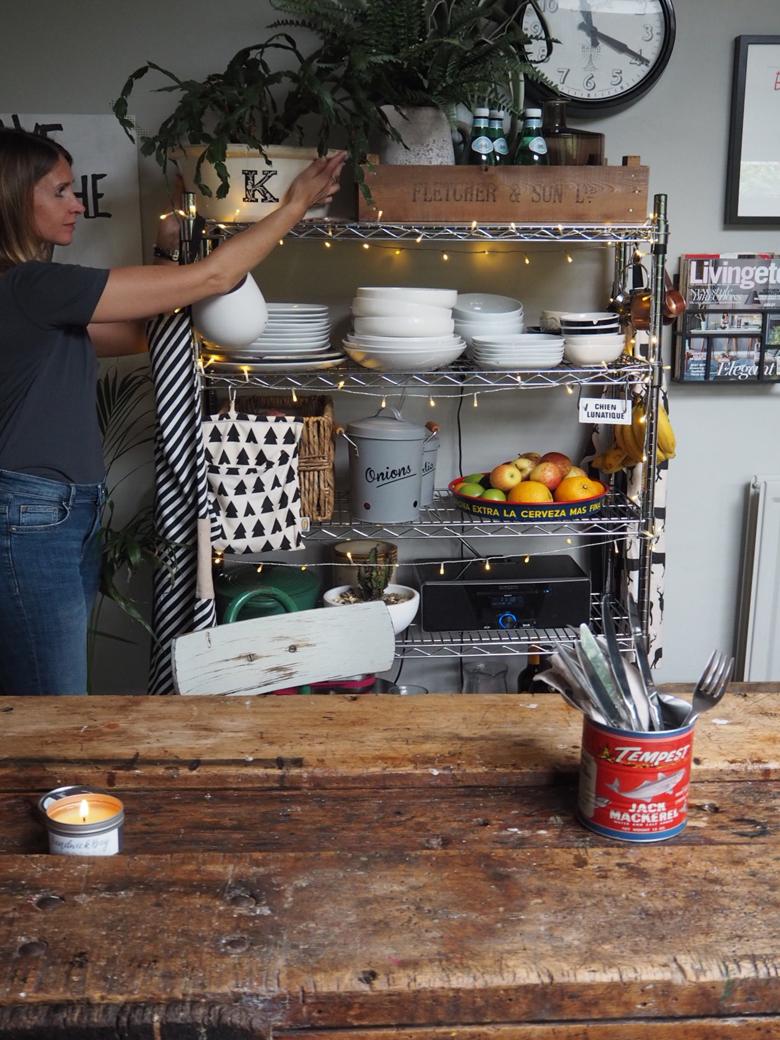 Kerry Lockwood in her wooden kitchen