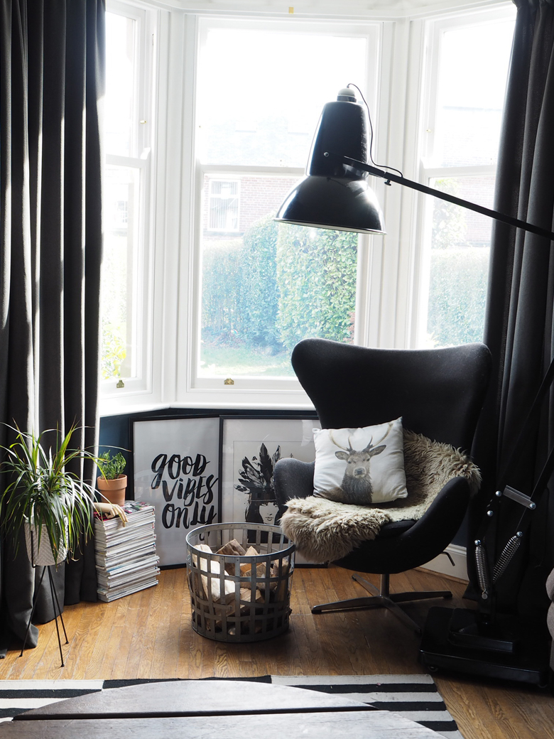 Living room window in black and white by Kerry Lockwood