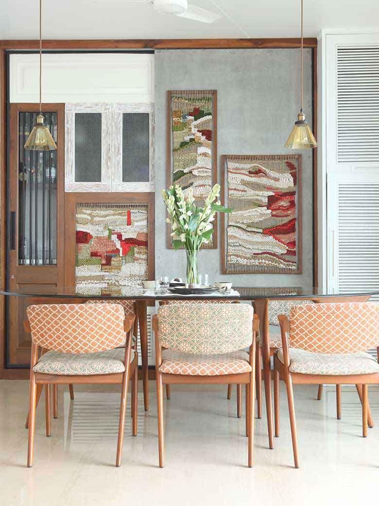 Dining with art work of Julie Katgi