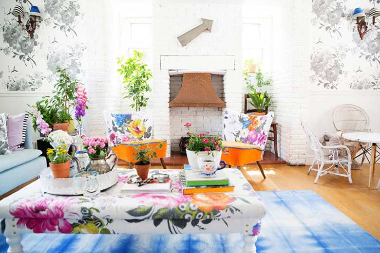 Floral and Fresh living room