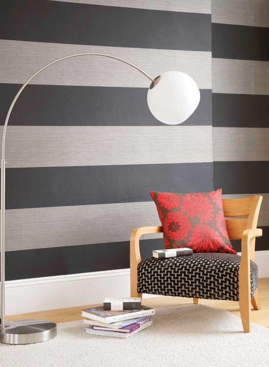 Grey black stripes wallpaper design