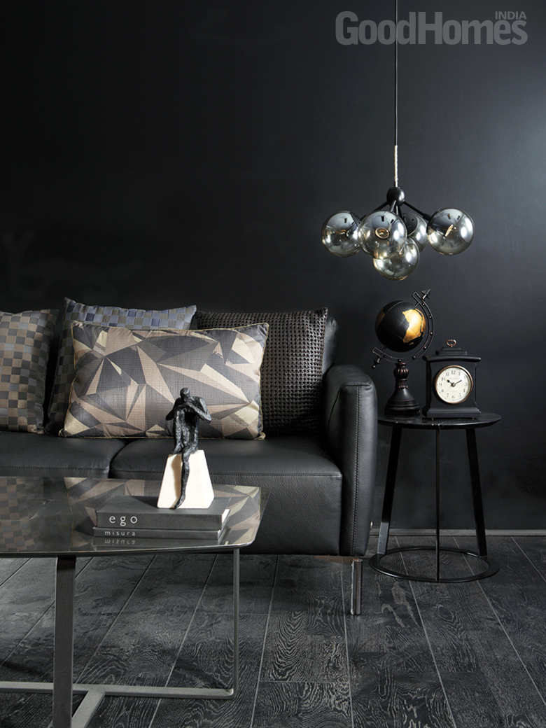 Black & Gold Living Room