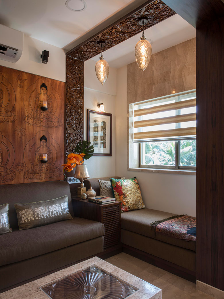 Seating arrangements in Architect Dipa Desai's home