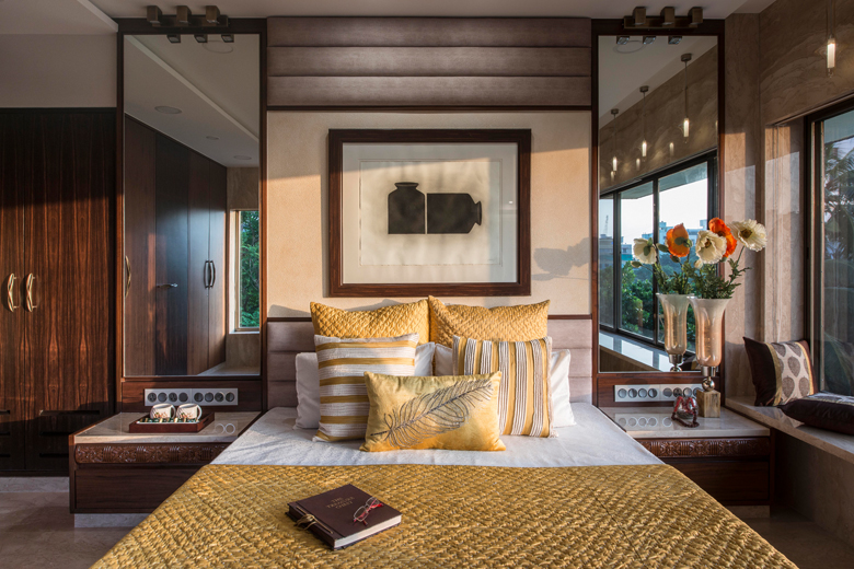 Bedroom in Architect Dipa Desai's home