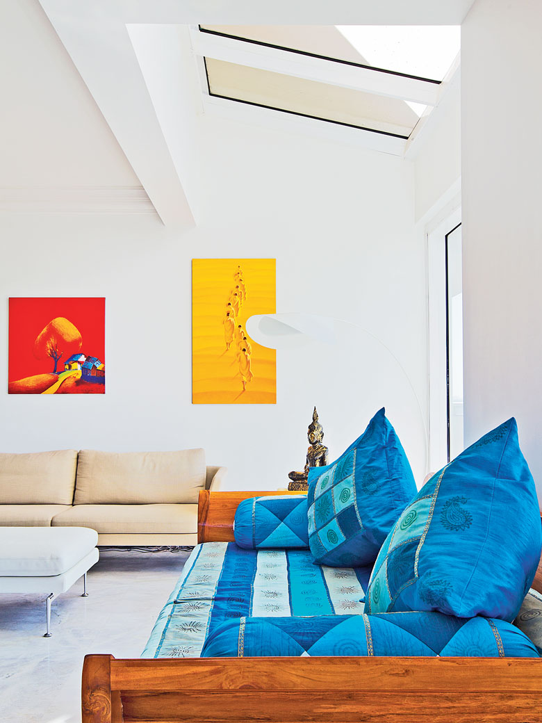 How to bring the space alive with pops of colour