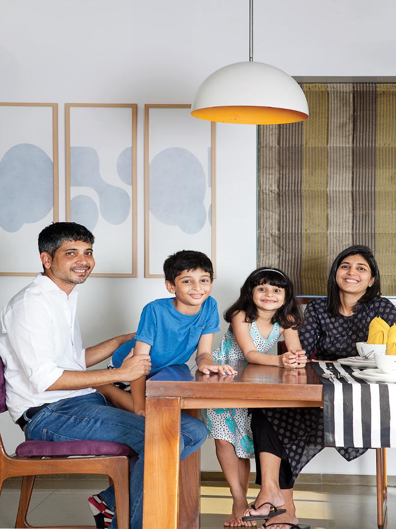 Rohit Mankar and his family