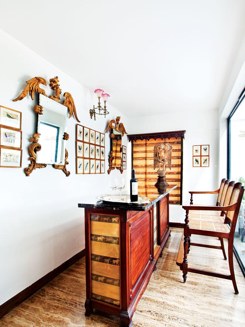 Bar area in Venkatram Reddy's home