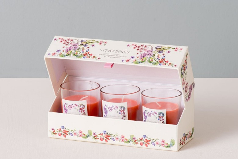 Strawberry-Fragranced-Candles---Set-of-3._