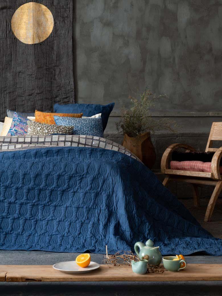 Blue bedsheet