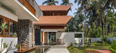 This bungalow could easily be in Bali, but no, it's right here in Mangalore
