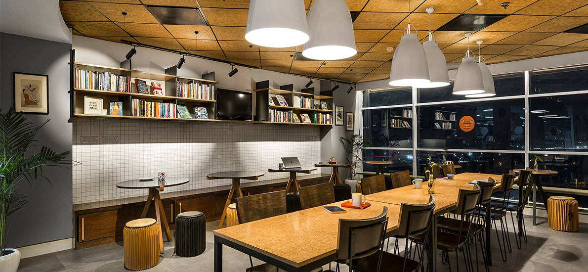 A quick makeover for an office cafeteria