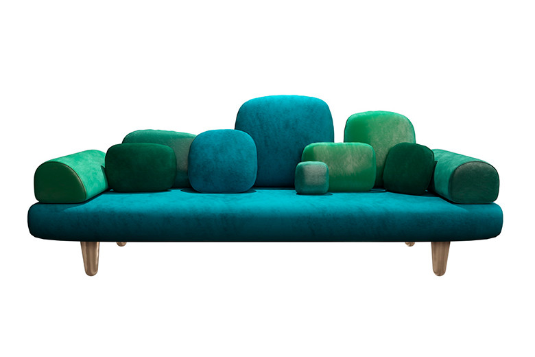Forest Sofa Green from the  Scarlet Scenes 2020 collection by  Scarlet Splendour