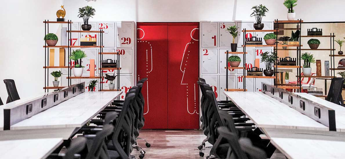 An office with a strong quirk factor