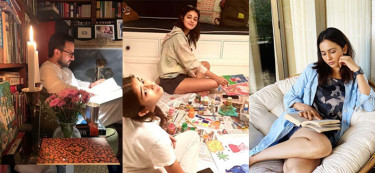 See how your favourite celebrities are spending time at home
