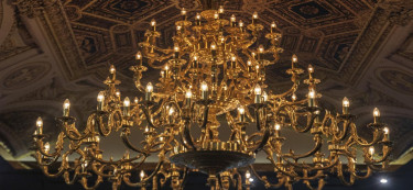 If the chandeliers are any indicator, this restaurant is opulent to the T