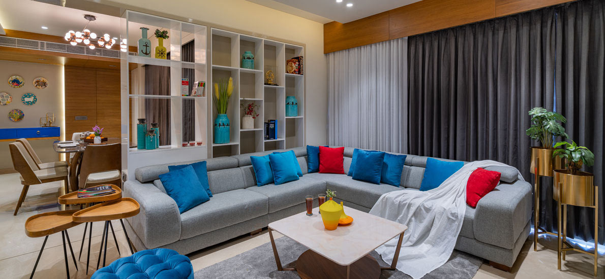 Visit the blue home of Ahmedabad, & get inspired by its expansive interiors