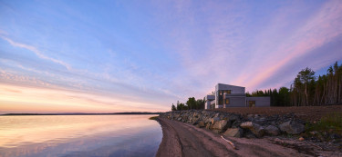 This spectacular waterfront house in Canada offers views for days