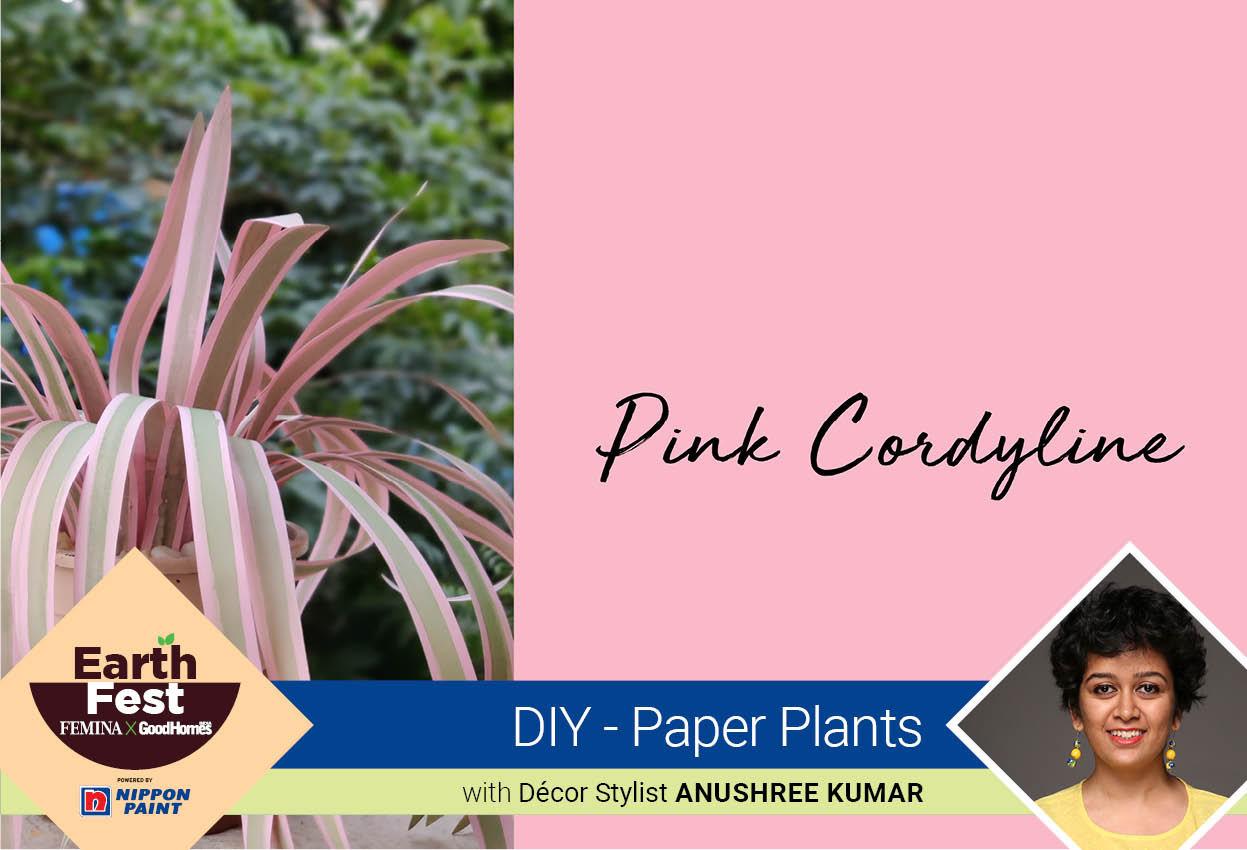 DIY- Paper Plants: Pink Cordyline